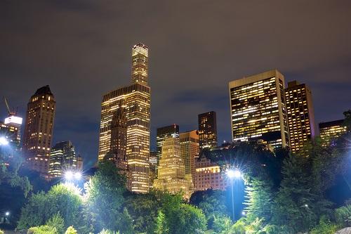 Oświetlenie parku